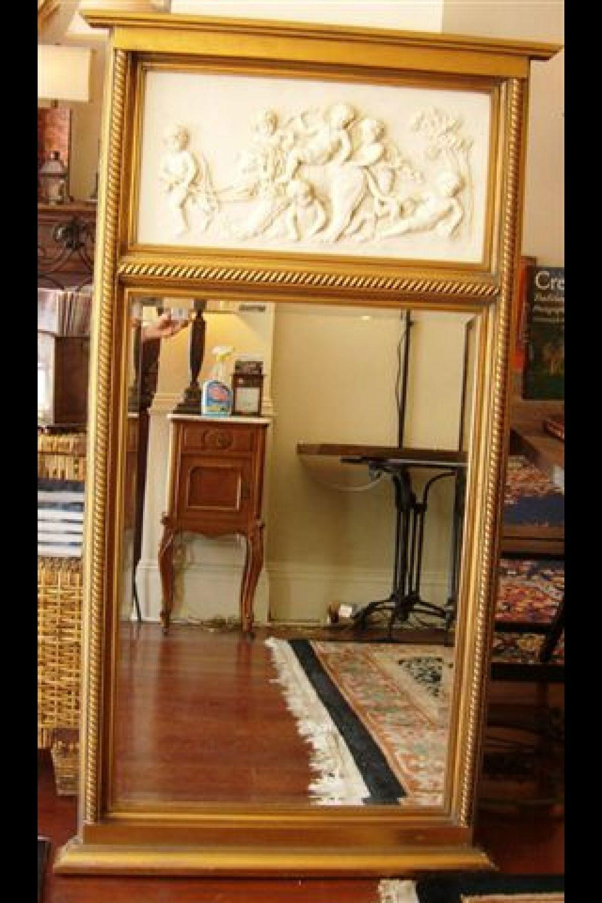 Interior: Vintage Trumeau Mirror For Home Interiors — Nadabike In Venetian Style Wall Mirror (Image 7 of 20)
