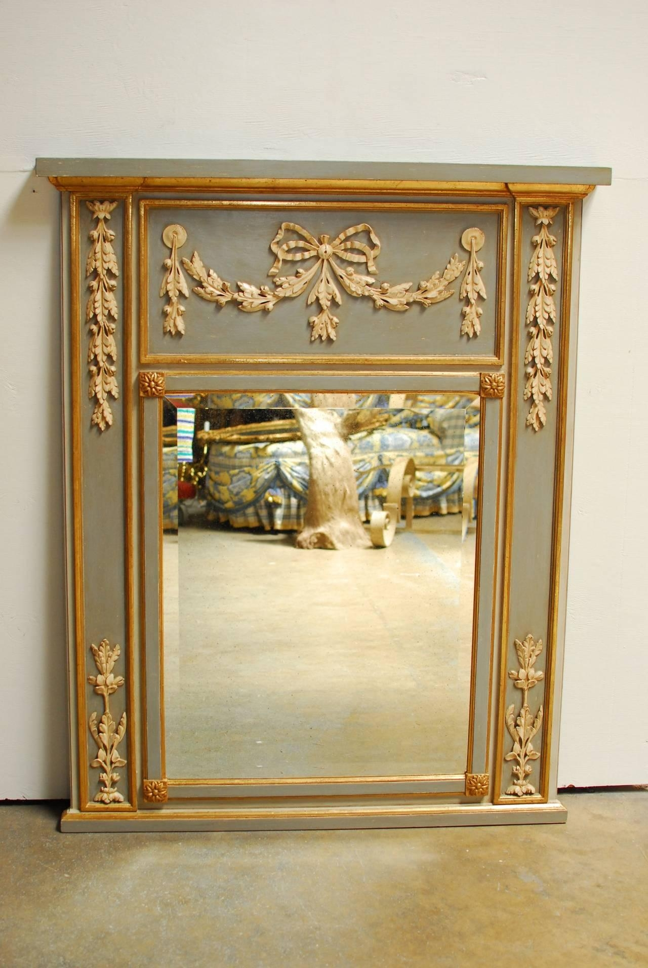Interior: Vintage Trumeau Mirror For Home Interiors — Nadabike Pertaining To Tall Venetian Mirror (Image 12 of 20)
