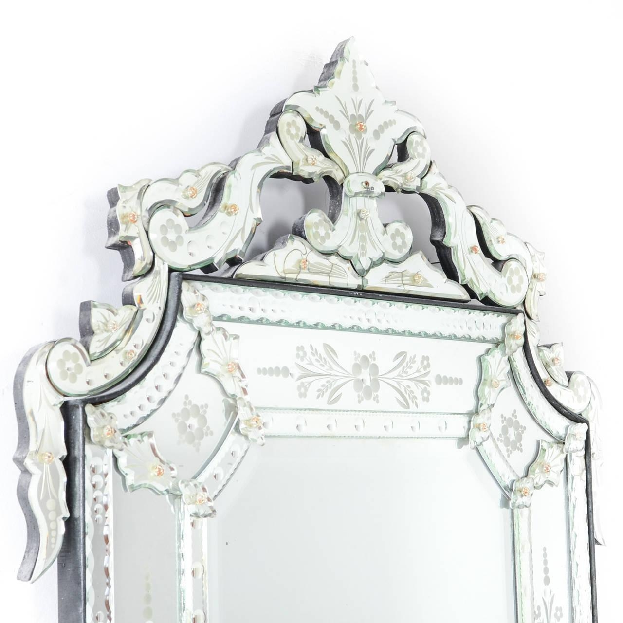 Interior: Vintage Venetian Mirror For Classic Interior Decor With Tall Venetian Mirror (Image 17 of 20)