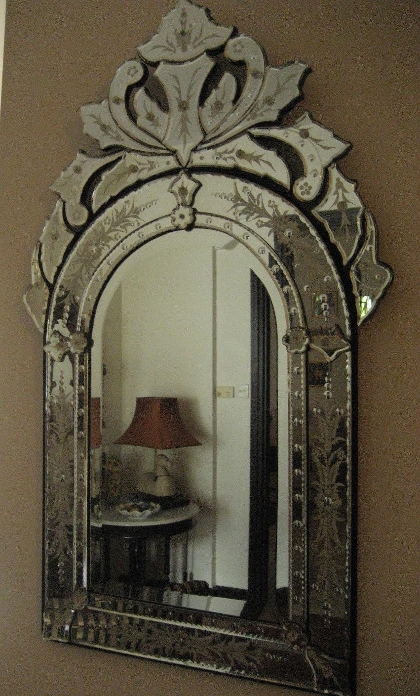 Interior: Vintage Venetian Mirror For Classic Interior Decor With Venetian Glass Mirrors Sale (Image 9 of 20)