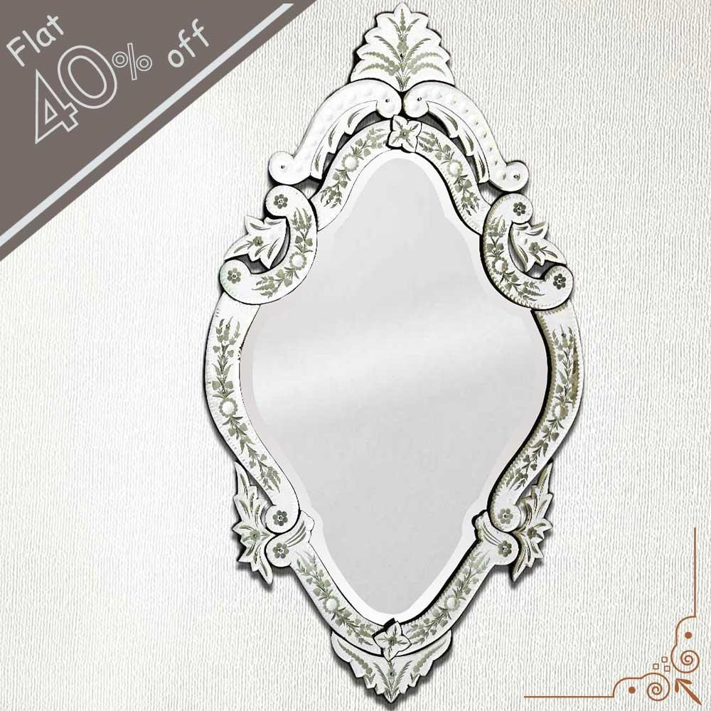 Interior: Vintage Venetian Mirror For Classic Interior Decor Within Venetian Oval Mirror (Image 11 of 20)