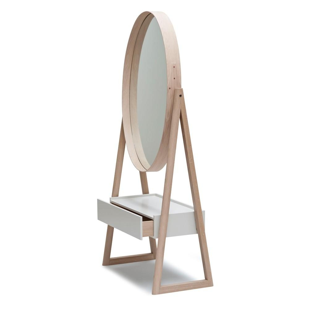 Iona Drawer Cheval Mirror | Pinch | The Future Perfect Pertaining To Cheval Mirror (Image 14 of 20)