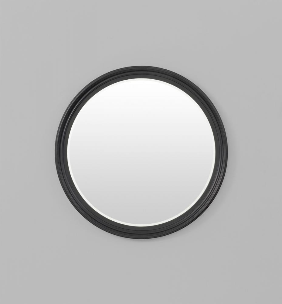 Iona Round Matt Black Mirror Regarding Large Round Black Mirror (Image 8 of 20)