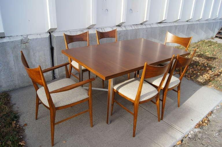 Irwin Group Walnut Dining Table And Six Chairspaul Mccobb For Within Dining Tables And Six Chairs (Image 13 of 20)