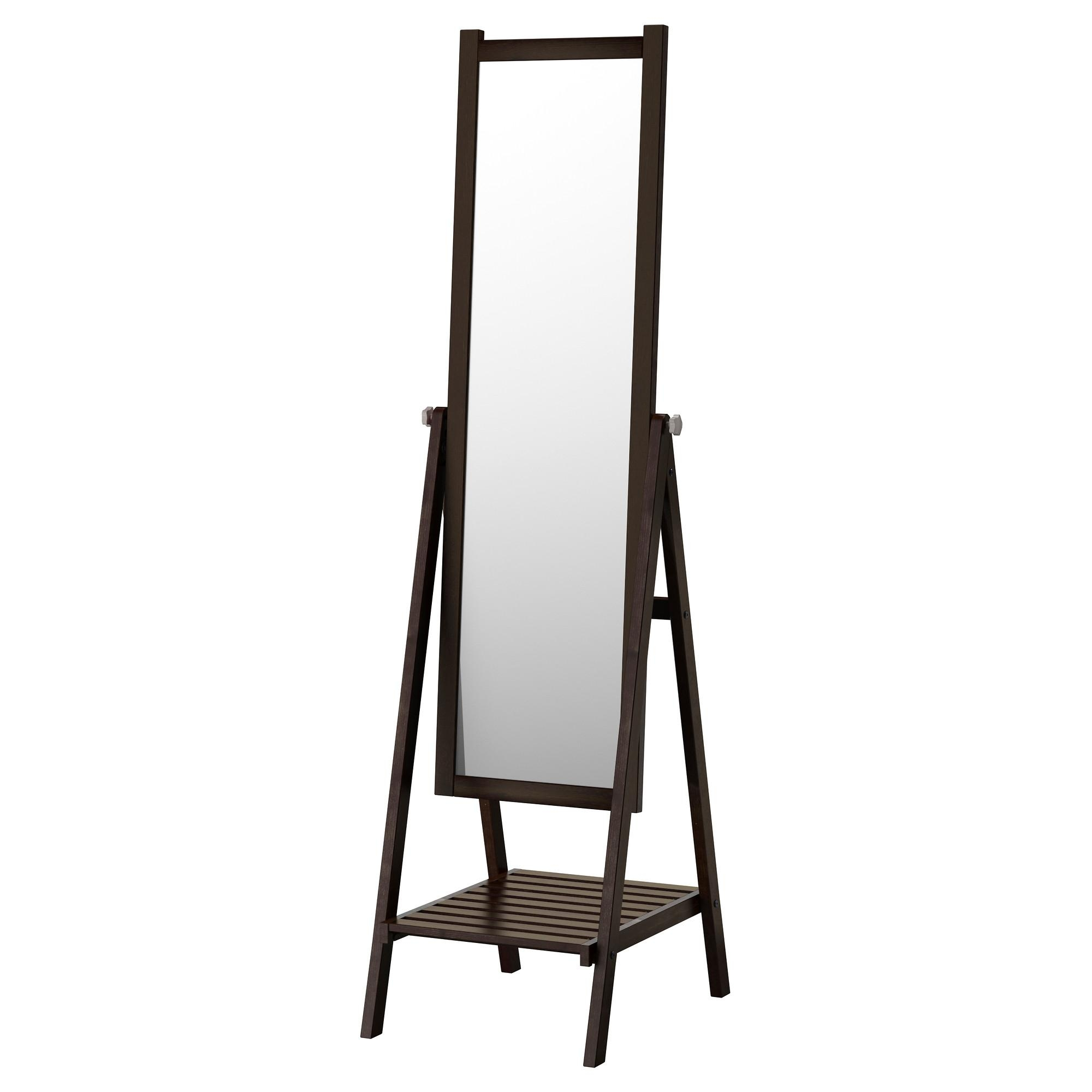Isfjorden Standing Mirror – White Stain – Ikea For Free Stand Mirror (Image 13 of 20)