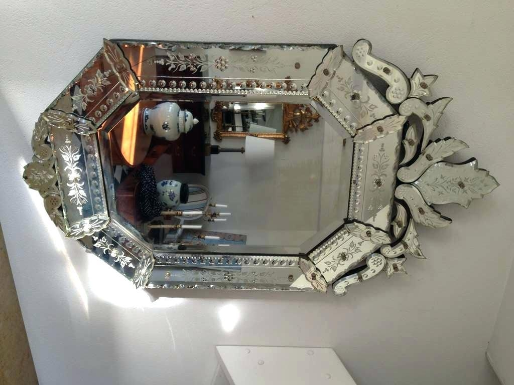Italian Venetian Mirror Wall Glassmurano Glass Mirrors Extra Large Throughout Extra Large Venetian Mirror (Image 17 of 20)