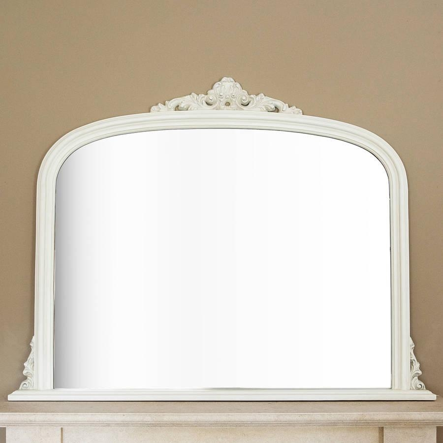 Ivory Overmantel Mirrordecorative Mirrors Online Inside White Overmantle Mirror (Image 11 of 20)