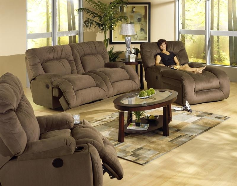 Jackpot 2 Piece Power Reclining Sofa Set In Sage Microfiber Fabric Within Catnapper Reclining Sofas (View 5 of 20)