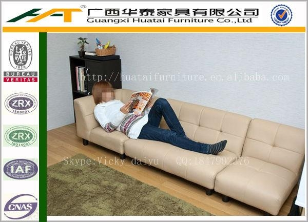 Japanese Style Fabric Sectional Sofa Short Fabric Corner Sofas Throughout Short Sofas (Image 9 of 20)