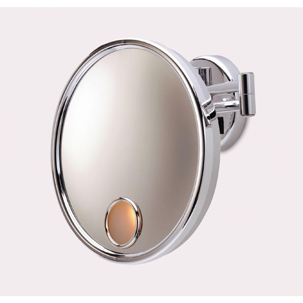 Jerdon 9.75 In. L X 10 In. W Wall Mirror In Chrome Jd7C – The Home Intended For Chrome Wall Mirrors (Photo 11 of 20)