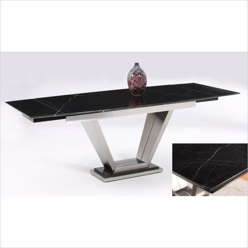 Jessy Solid Marble Top Extension Dining Table With Pedestal Base With Solid Marble Dining Tables (View 13 of 20)