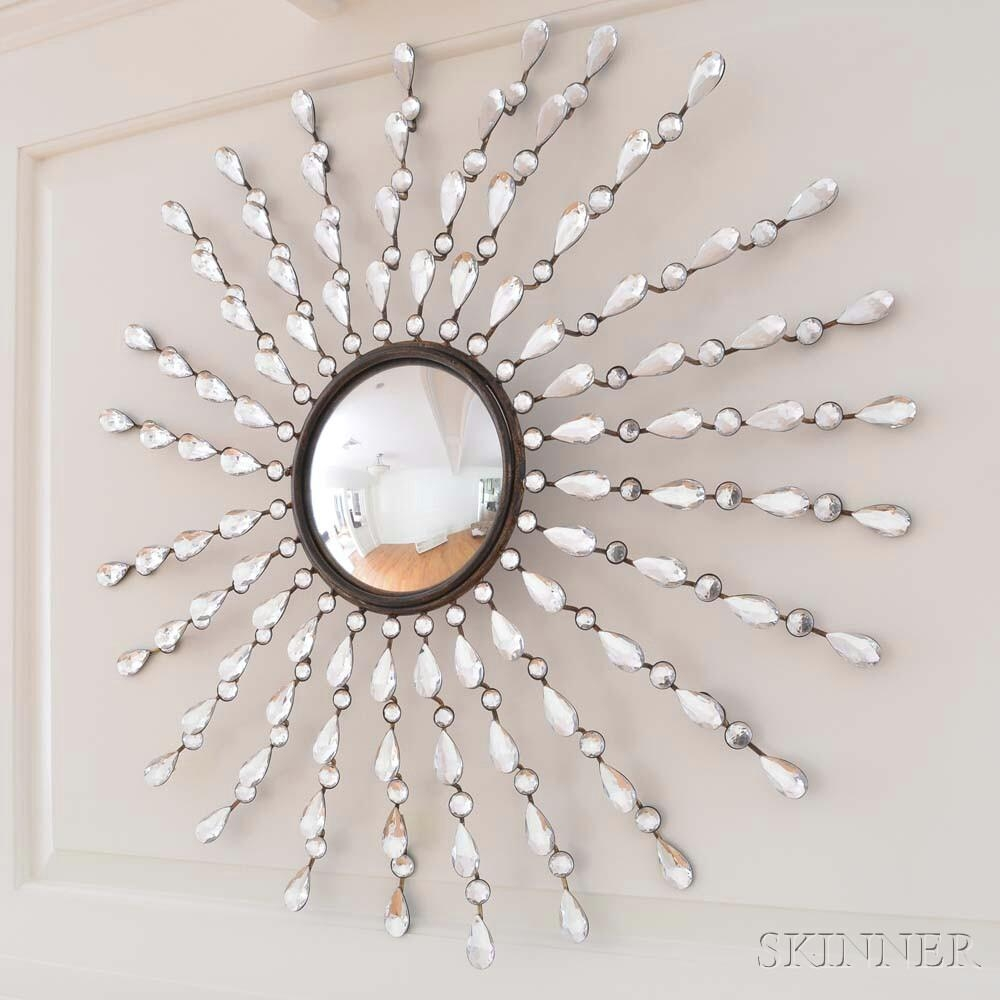 Jeweled Starburst Convex Mirror | Sale Number 2924T, Lot Number With Regard To Starburst Convex Mirror (Image 11 of 20)