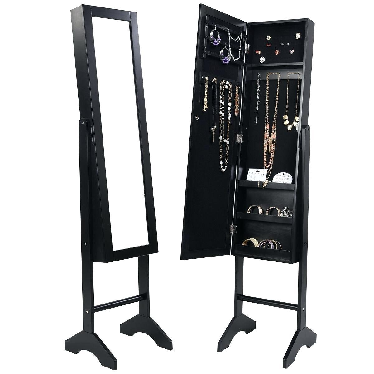 Jewelry Cabinet Mirror – Shopwiz Intended For Black Mirrored Cabinet (Image 18 of 20)
