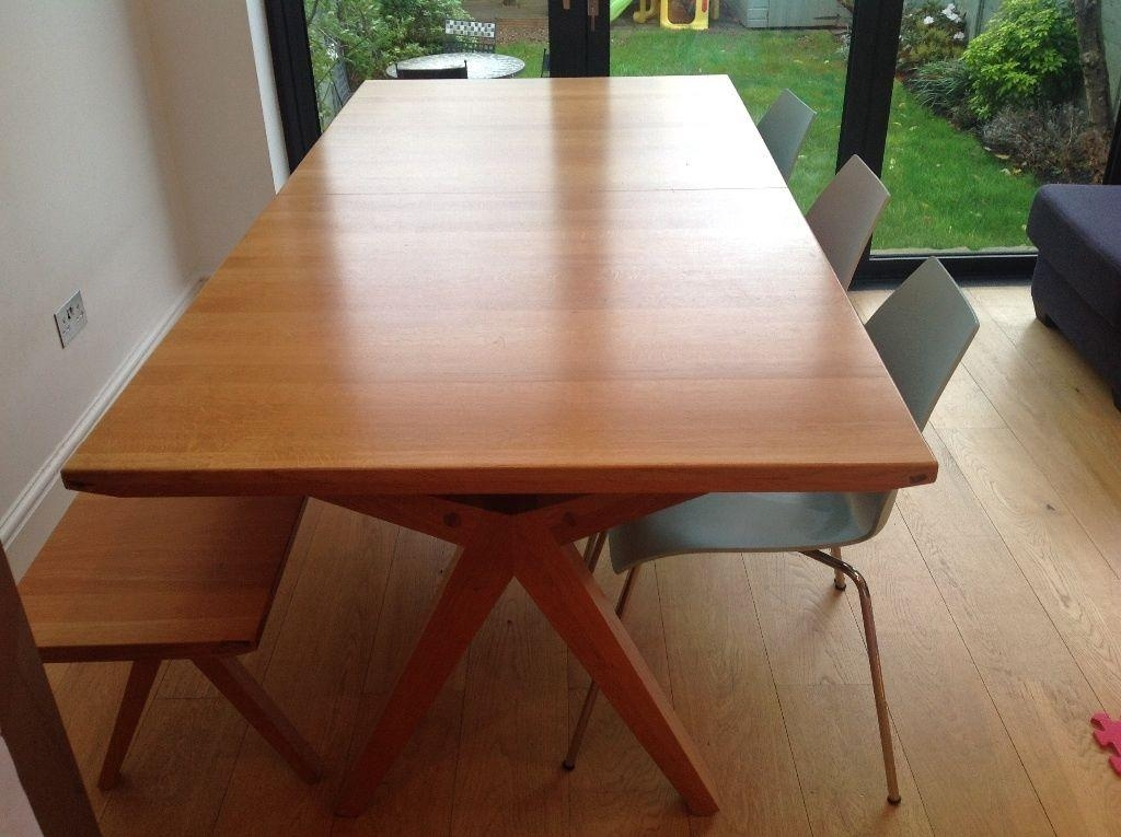 John Lewis 'noah' Extending Dining Table Plus Matching Bench Plus Regarding Noah Dining Tables (View 5 of 20)