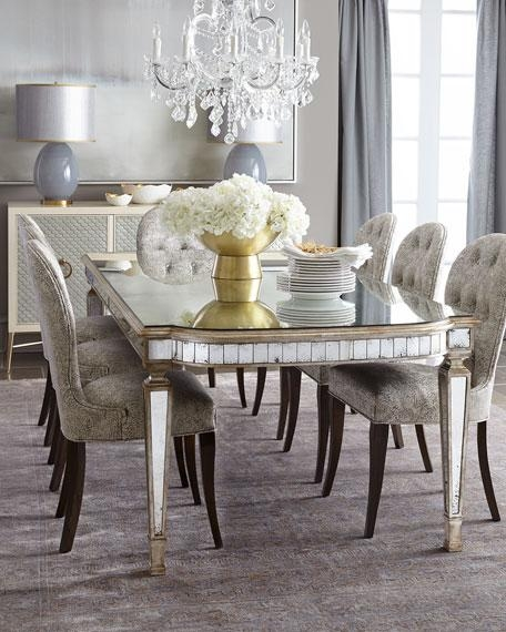 John Richard Collection Cara Dining Chair & Eliza Antiqued Inside Mirrored Dining Tables (View 8 of 20)