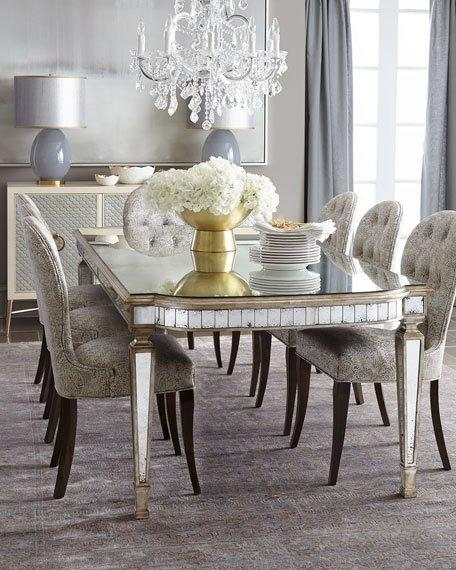 John Richard Collection Cara Dining Chair & Eliza Antiqued With Antique Mirror Dining Tables (Photo 12 of 20)
