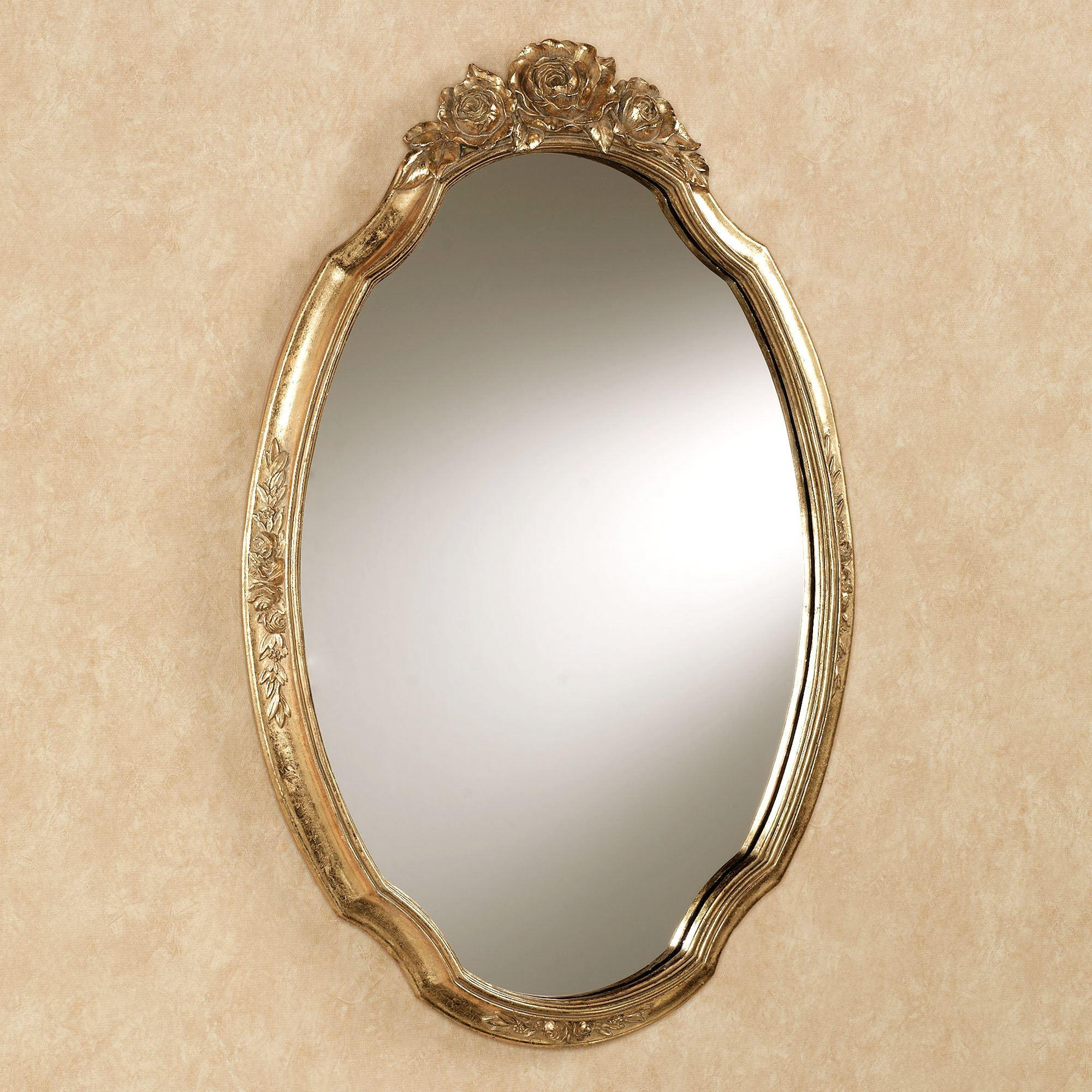 Jorah Rose Oval Wall Mirror Intended For Gold Wall Mirrors (Image 10 of 20)