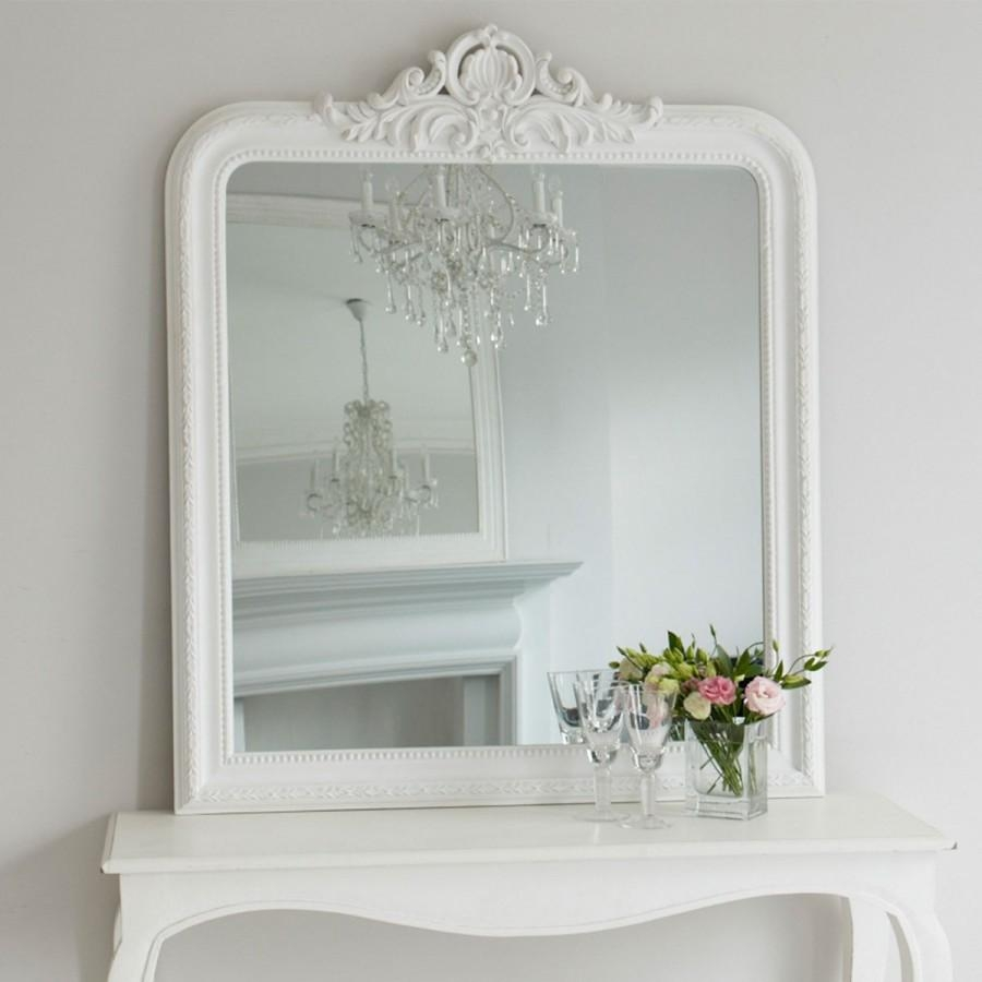 Josephine Mirror – White | Brissi With Regard To White Overmantle Mirror (Image 13 of 20)
