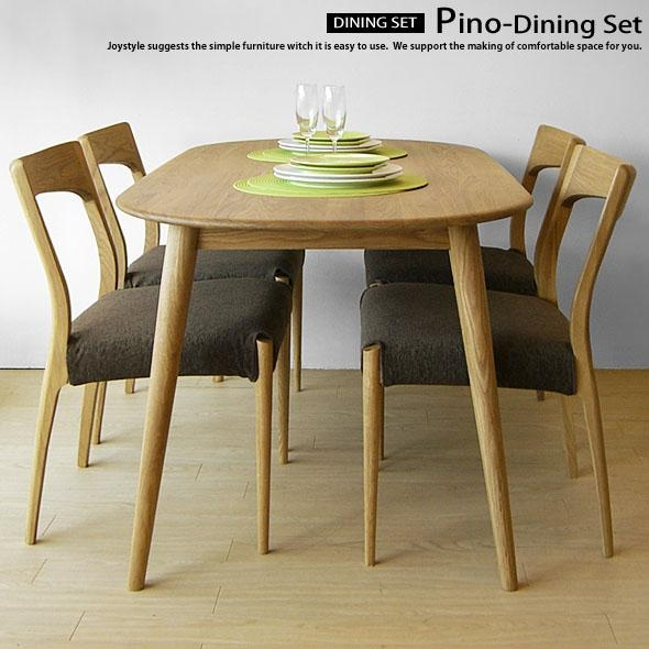 Joystyle Interior | Rakuten Global Market: Width 150 Cm Oak Wood With Scandinavian Dining Tables And Chairs (View 9 of 20)
