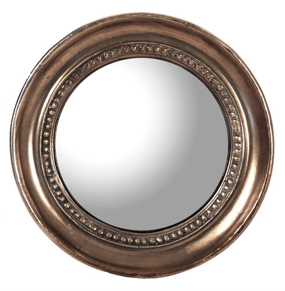 Julian Antique Bronze Distressed Small Round Convex Mirror | Kathy For Small Round Convex Mirror (Image 8 of 20)