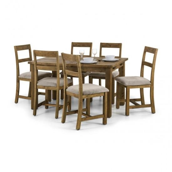 Julian Bowen Aspen Extending Wooden Dining Table And 4 Aspen For Aspen Dining Tables (View 20 of 20)