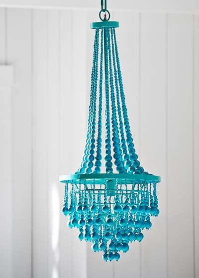 Junk Gypsy Beaded Chandelier Everything Turquoise Intended For Turquoise Blue Beaded Chandeliers (Image 17 of 25)