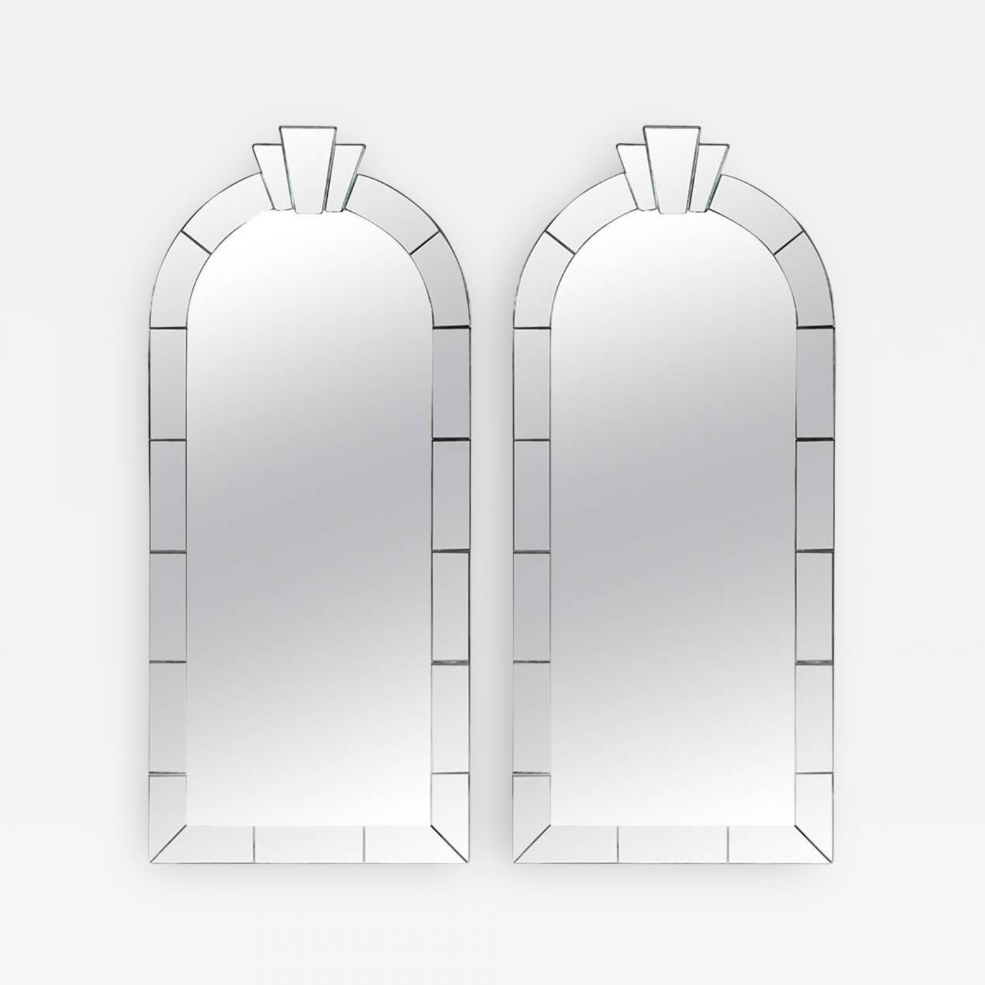 Karl Springer – Pair Of Dome Top Art Deco Style Mirrorskarl For Art Deco Style Mirrors (View 11 of 20)