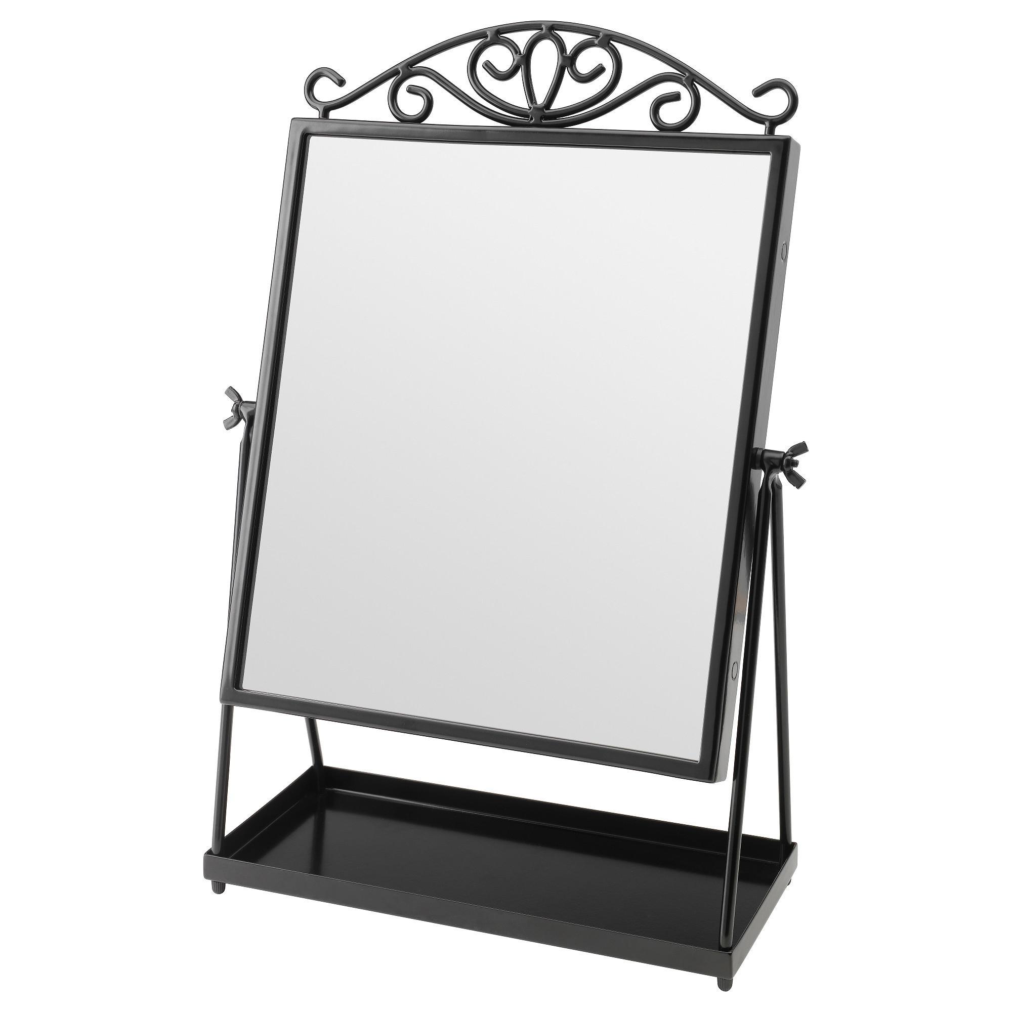 Karmsund Table Mirror Black 27X43 Cm – Ikea With Regard To Standing Table Mirror (Image 8 of 20)
