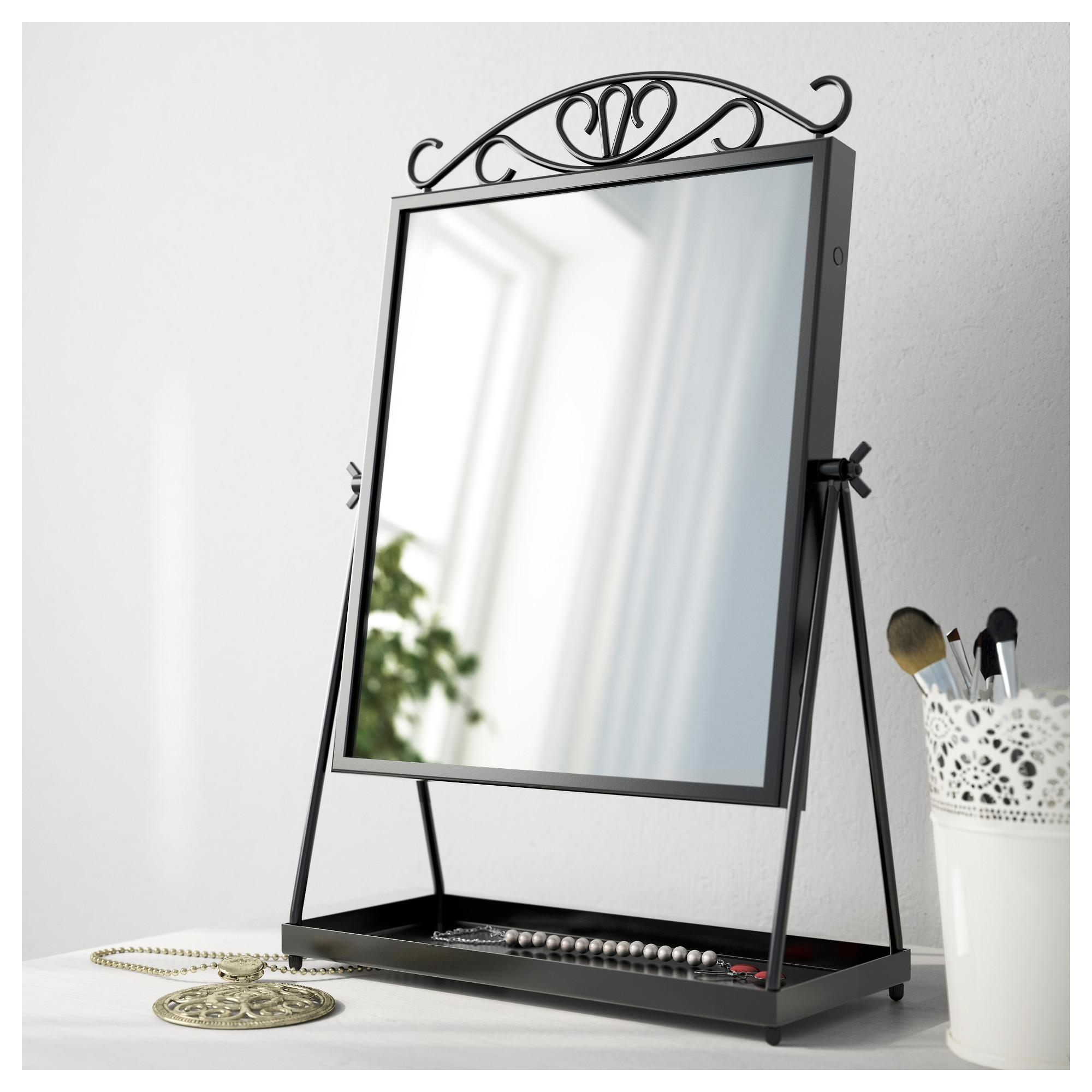 Karmsund Table Mirror Black 27X43 Cm – Ikea Within Standing Table Mirror (Image 9 of 20)