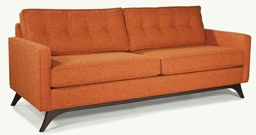 Kate's Top 10 Midcentury Modern Sofas Available Today – Retro Inside Orange Modern Sofas (View 10 of 20)