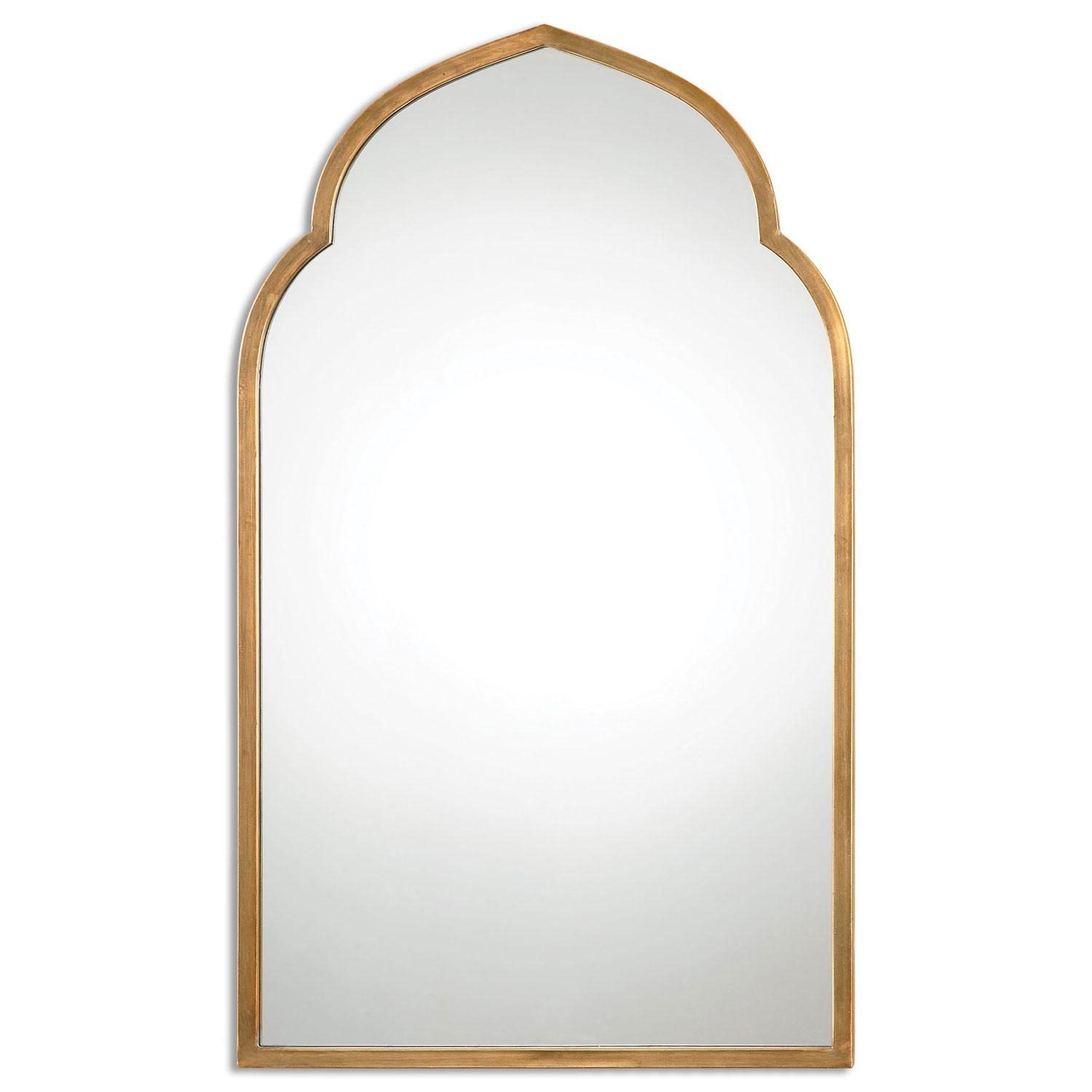 Kenitra Gold Arch Mirror Uttermost Wall Mirror Mirrors Home Decor For Gold Arch Mirror (Image 9 of 20)