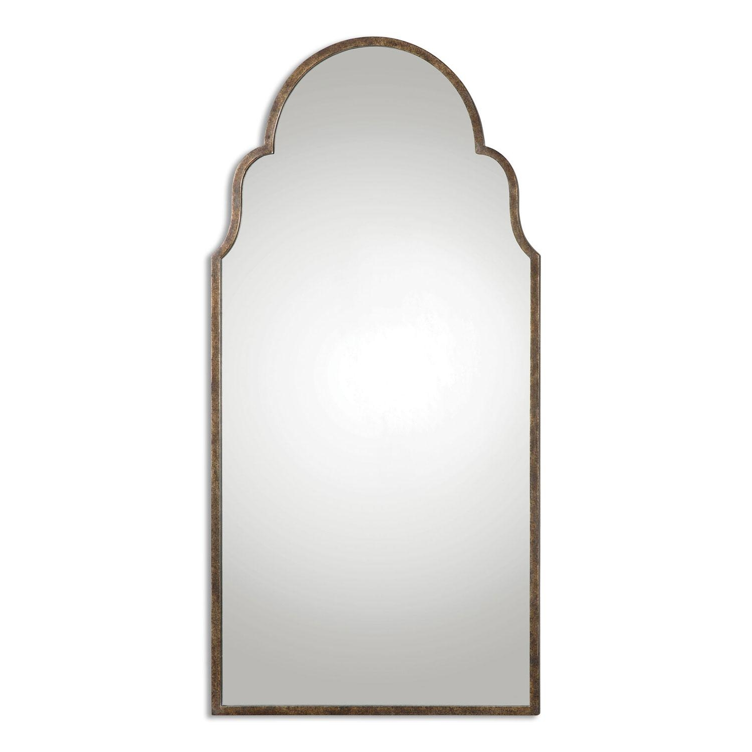 Kenitra Gold Arch Mirror Uttermost Wall Mirror Mirrors Home Decor Throughout Gold Arch Mirror (Image 10 of 20)