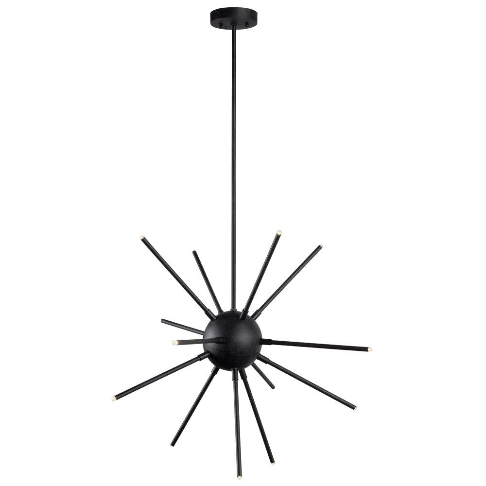 Kenroy Home Atom 13 Light Graphite Led Chandelier 93272fgrph The Regarding Atom Chandeliers (Image 8 of 25)