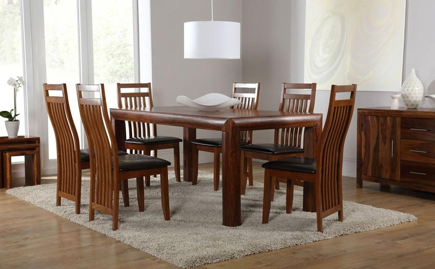 Kerala 180Cm Sheesham Dining Table And 4 Chairs Set (Java Sheesham In Sheesham Dining Tables And Chairs (Image 10 of 20)