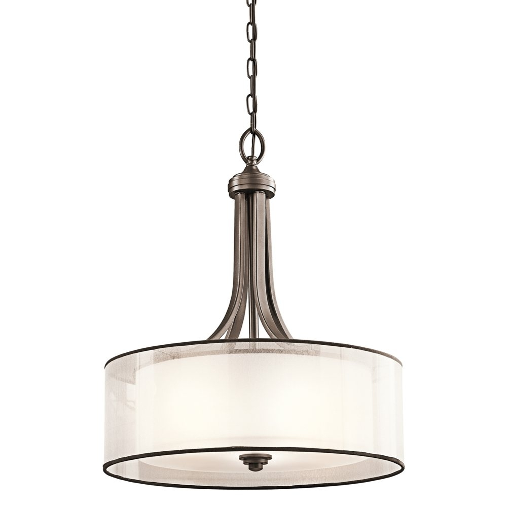Kichler Lighting 42385miz Lacey 4 Light Inverted Pendant Mission For Inverted Pendant Chandeliers (Image 14 of 25)