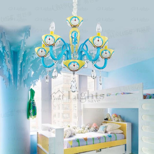 Kids 5 Light Cartton Yellow Kids Chandeliers Pertaining To Chandeliers For Kids (Image 18 of 25)
