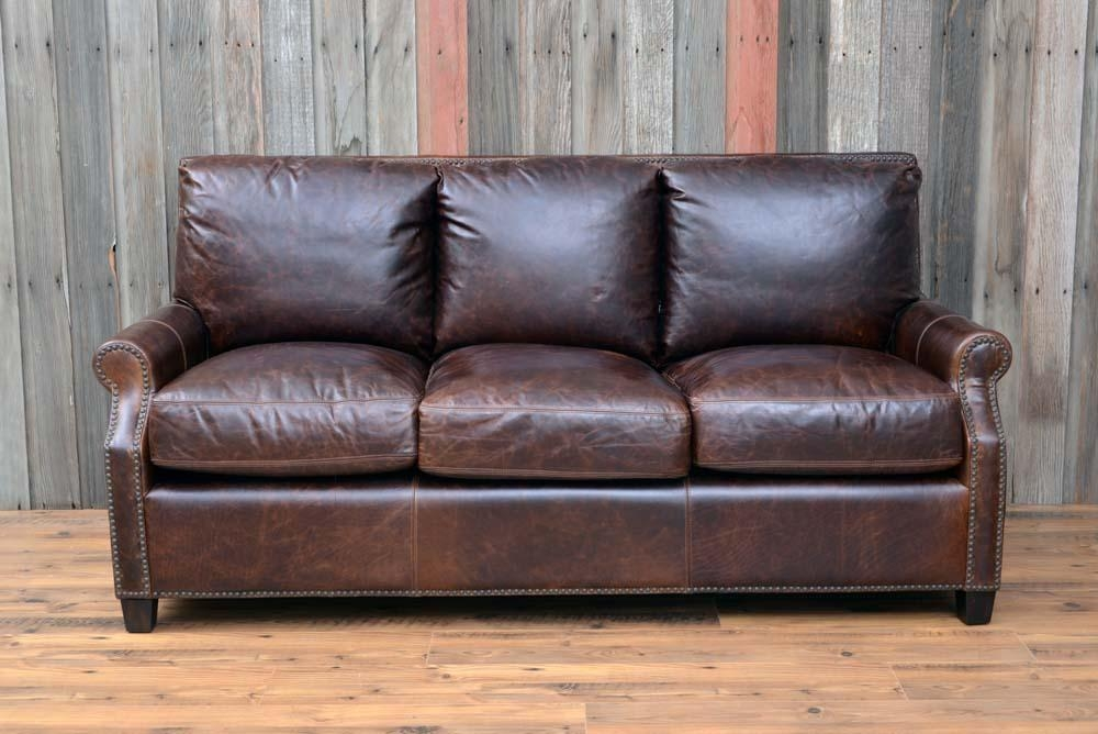 Kingston Leather Sofa In Brompton Brown | New Arrivals | Back At Pertaining To Brompton Leather Sofas (View 9 of 20)