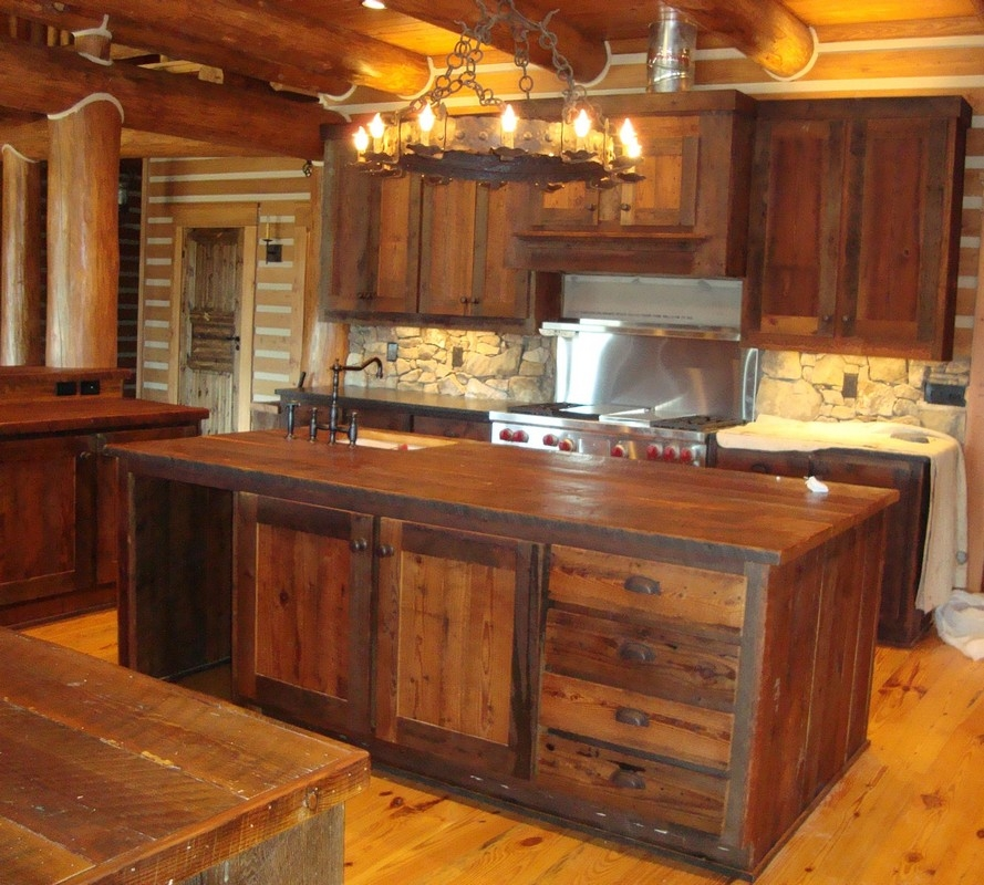 Kitchen Design 20 Photos Gallery Best Small Rustic Wooden For Small Rustic Kitchen Chandeliers (Image 16 of 25)