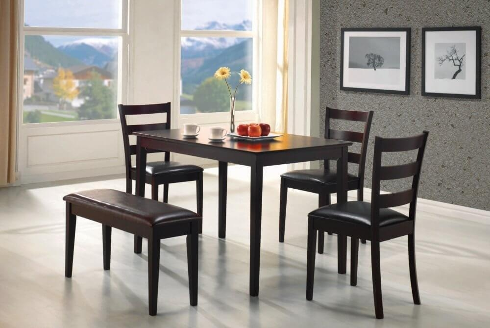 Kitchen Excellent Dining Table Bench Chairs Best 25 With Ideas Throughout Small Dining Tables And Bench Sets (Image 15 of 20)