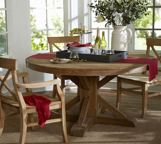 Kitchen Outstanding Round Dining Table Design Ideas Pertaining To Intended For Barn House Dining Tables (View 11 of 20)