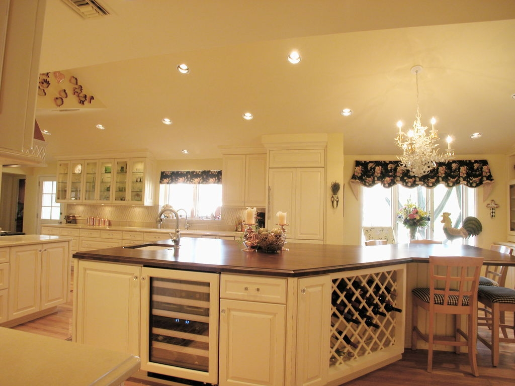 Kitchen Splendid French Country Kitchen Design Using White For French Country Chandeliers For Kitchen (Image 23 of 25)