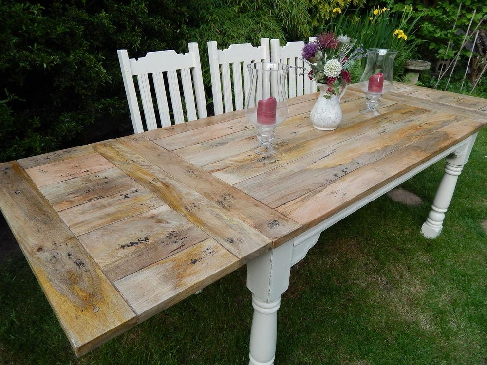 Kitchen Table Extendable Regarding Shabby Chic Extendable Dining Tables (Image 10 of 20)