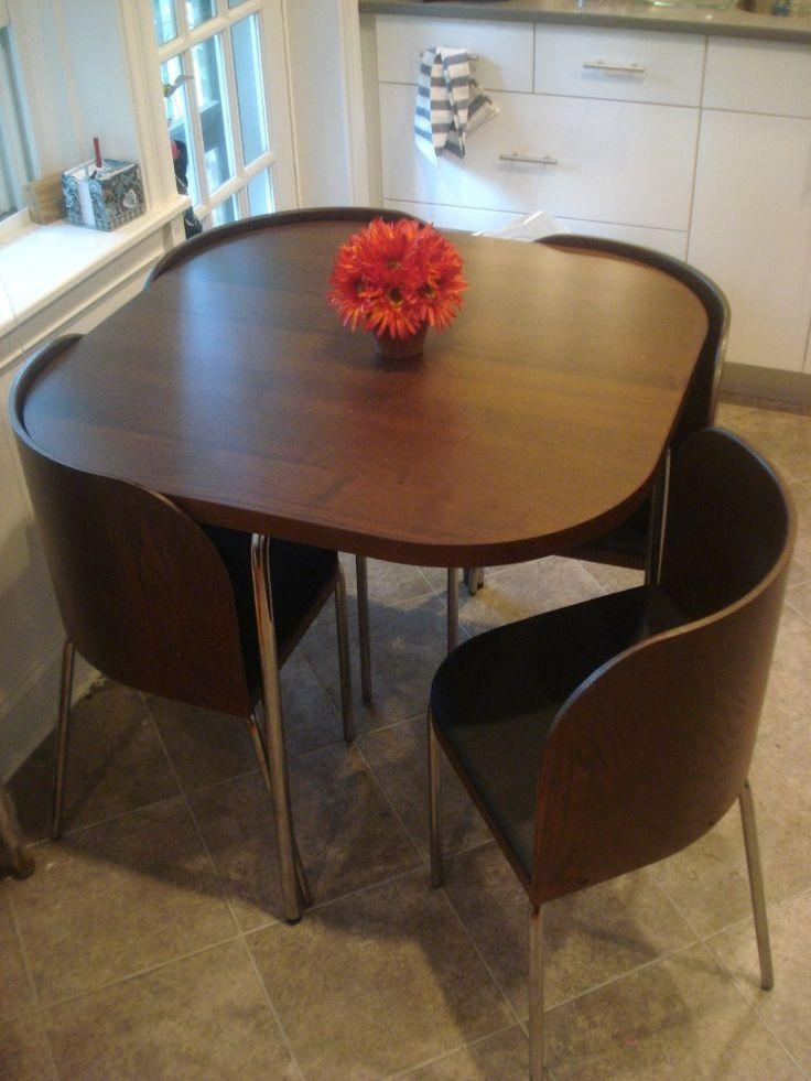 Kitchen Table For Small Space – Home Design For Dining Tables With Attached Stools (Image 12 of 20)