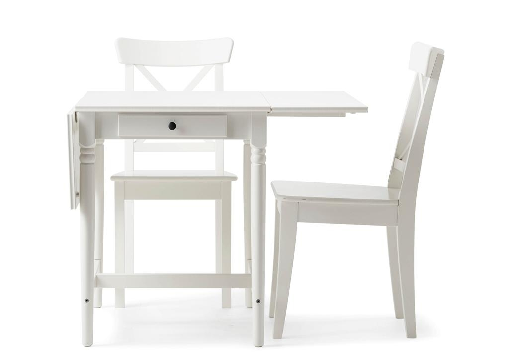 Kitchen Tables And Chairs Sets Ikea Home Dining Dining Sets Dining Inside Small White Dining Tables (Image 16 of 20)