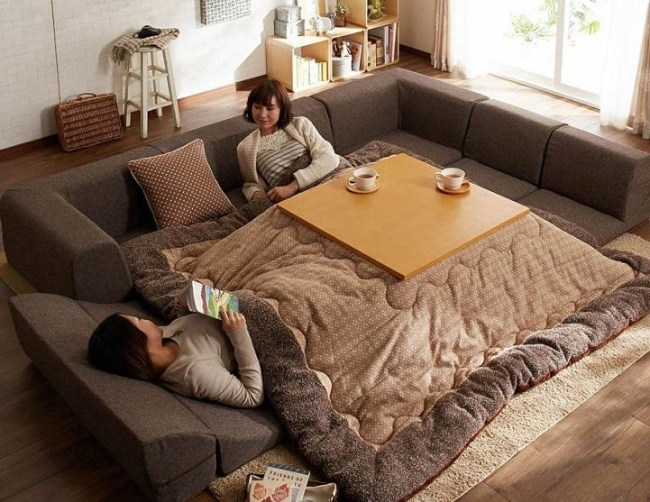 Kotatsu Is A Japanese Table That Offers The Comfort Of A Giant In Giant Sofa Beds (View 11 of 20)