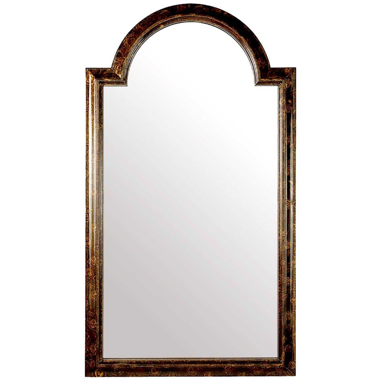 Labarge Palladian Arch Top Mirror In Faux Tortoise Finish For Sale With Regard To Curved Top Mirror (Image 12 of 20)