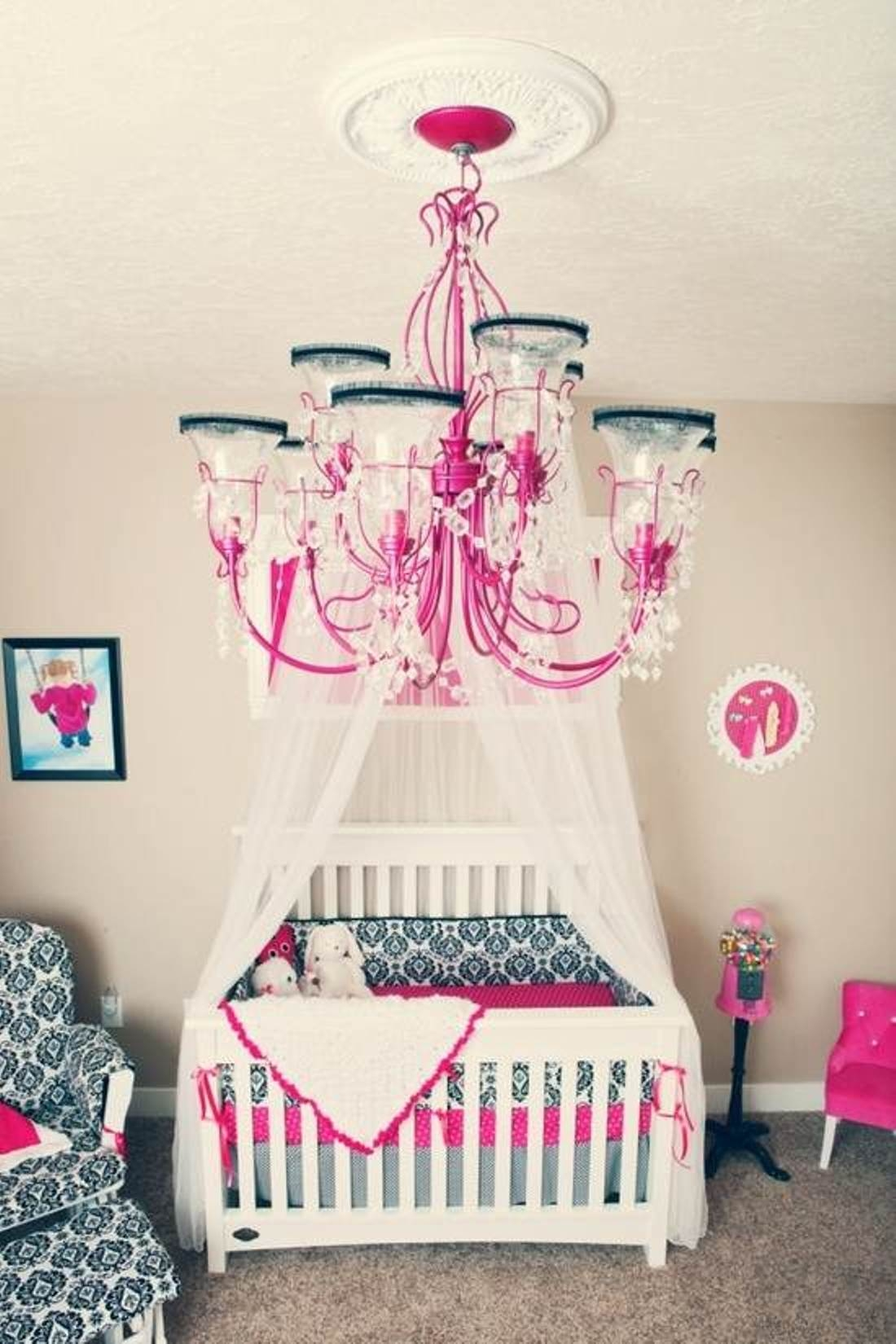 Lamp Create An Adorable Room For Your Little Girl With Chandelier Regarding Cheap Chandeliers For Baby Girl Room (Image 15 of 25)