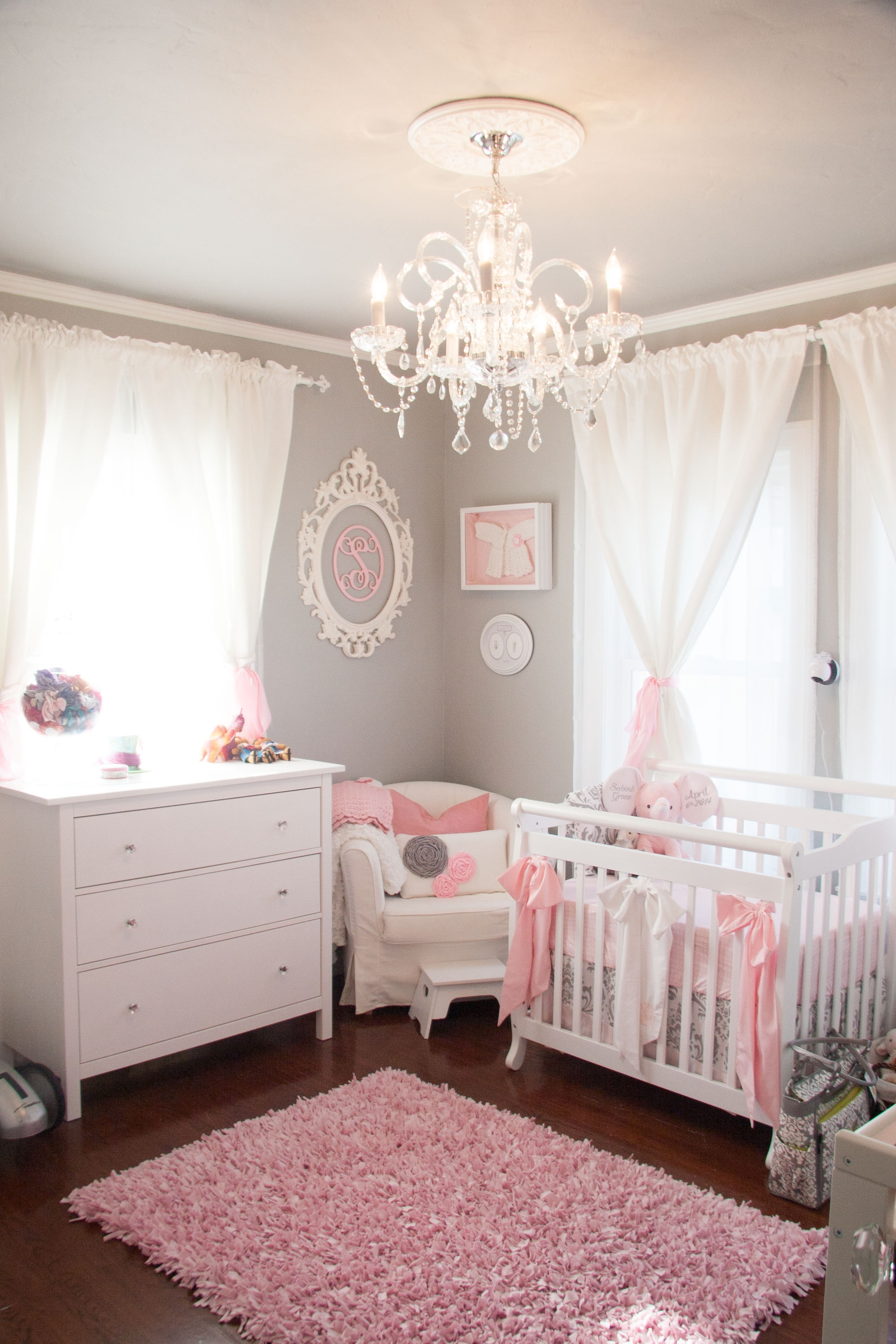Lamp Create An Adorable Room For Your Little Girl With Chandelier Throughout Chandeliers For Girl Nursery (View 8 of 25)