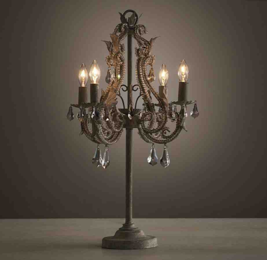 Chandelier Table Lamps: 25 Best Collection Of Small Chandelier Table Lamps