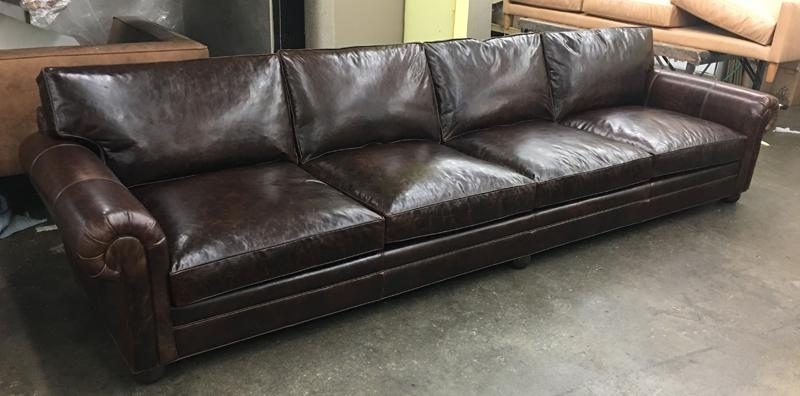 Langston 156″ And 108″ Leather Sofas In Italian Brompton Cocoa With Brompton Leather Sofas (View 18 of 20)